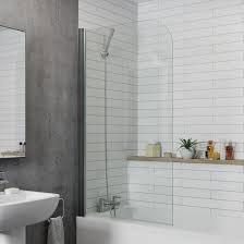 Carlisle Round Edge 6mm Bath Shower Screen