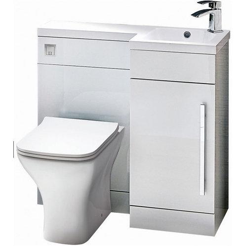 Lili Gloss White 900mm Bathroom Furniture Pack