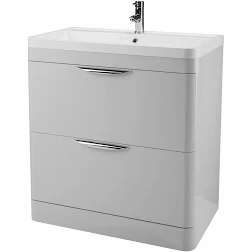 Parade 800mm Grey Mist Floor Unit and Basin FPA404