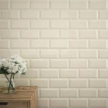 Metro gloss Hueso Cream tile