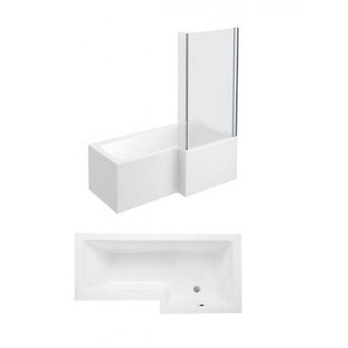 Super Strength 1700mm Square Shower Bath Complete