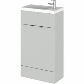Fusion Slimline 500mm x 260mm unit and top in Mist Grey