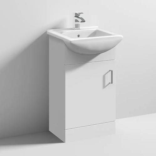 Ultra Deluxe 450mm White Gloss Vanity & Basin