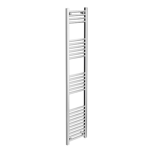 300mm Wide 22mm Tube Chrome Plated High Heat Output Towel Radiator