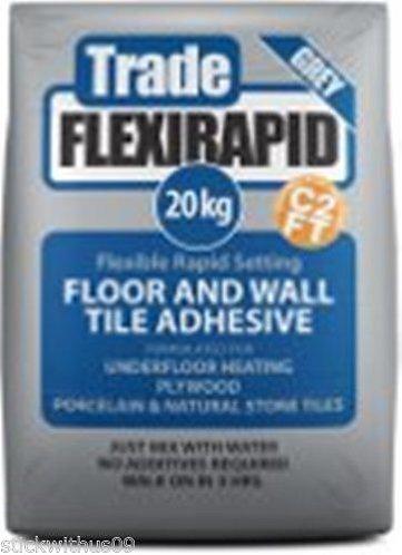 20 kg Tilemaster trade flexirapid flexible floor tile adhesive
