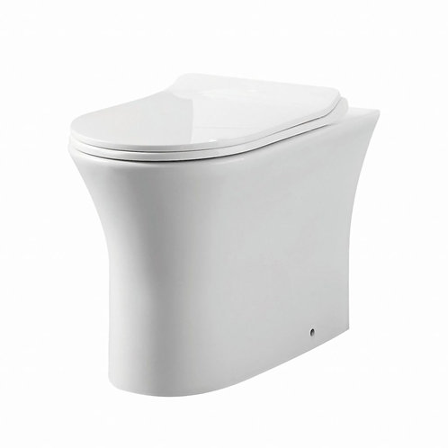 Deia Comfort Height (455mm) Back to wall Pan and Soft Close Seat