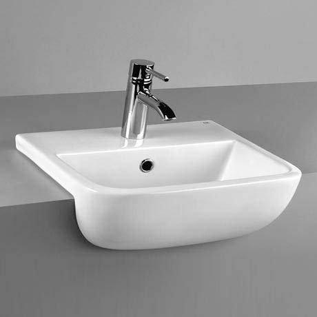 Rak 600 520mm semi recessed basin
