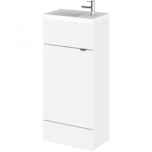 Fusion Slimline 400mm x 260mm unit and top in white