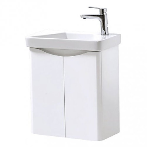 Cayo Wall Mounted Gloss white 500mm x 290mm Unit and Basin