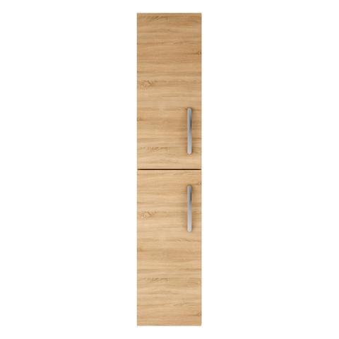 Athena Natural Oak 2 Door Wall Hung Storage Unit