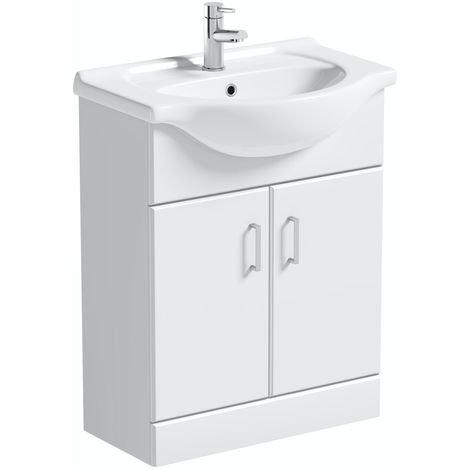 Ultra 650mm White Gloss Vanity & Basin