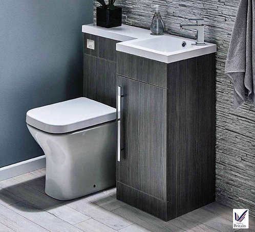 Lili Avola Woodgrain 900mm Bathroom Furniture Pack