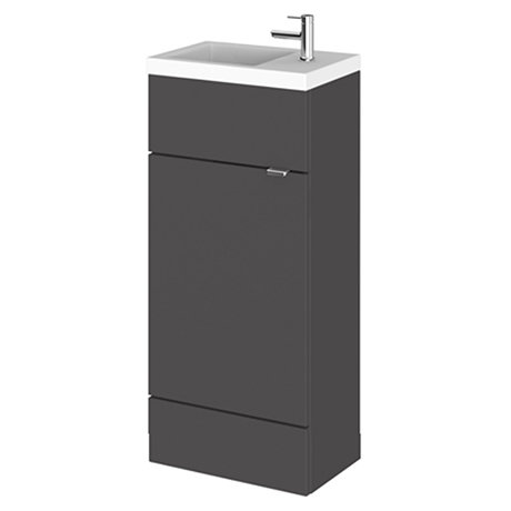 Fusion Slimline 400mm x 260mm unit and top in grey