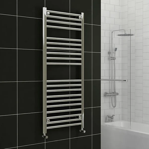 600mm Wide  22mm Tubes Chrome Plated High Heat Output Towel Radiator
