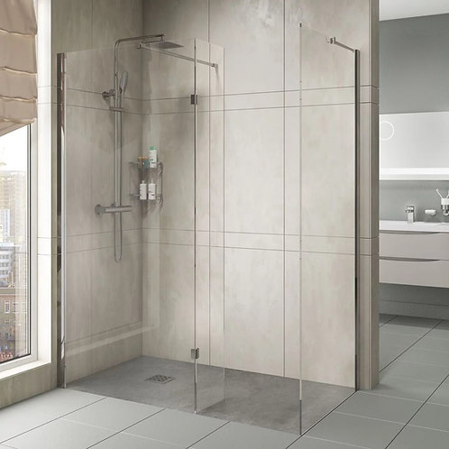 Scudo 8mm Wetroom Screen & 275mm Deflector Panel
