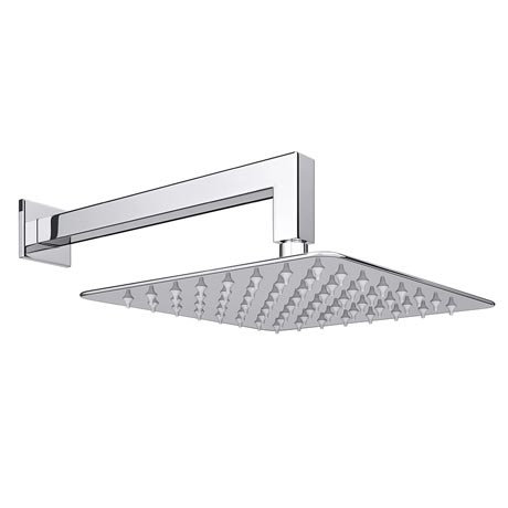 200mm Ultra Slim Square Polished Stainless steel Head And Drop Square Arm