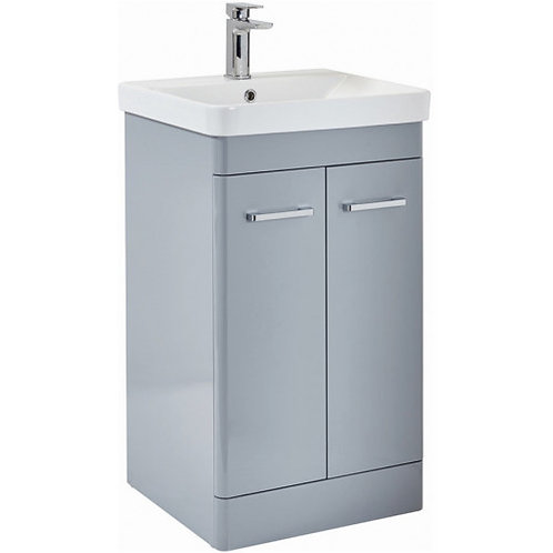 500mm Rossini Pebble Grey Unit and Basin