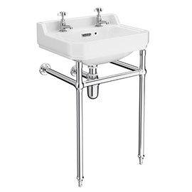 560mm Richmond Basin & Chrome Wash Stand