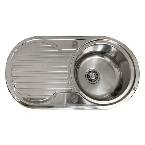 Rondel stainless steel sink and waste