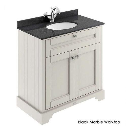 800mm Old London unit marble top & basin lof427