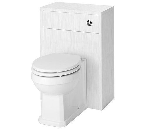 York White Ash WC Unit and Concealed Push Button Cistern OLF141 +