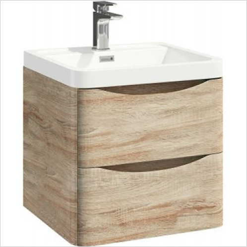 Bella 500mm Driftwood Oak Unit and Basin