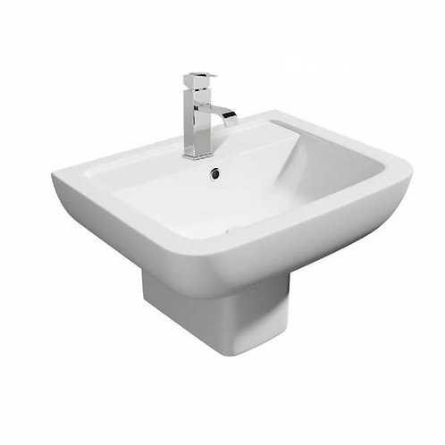 Kartell Options 600    550mm Basin and Semi Pedestal