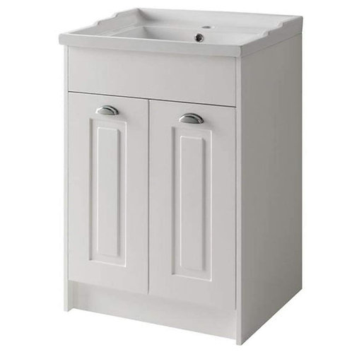 600mm Astley White Ash Traditional Unit and Basin