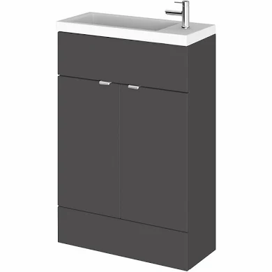 Fusion Slimline 600mm x 260mm unit and top in grey