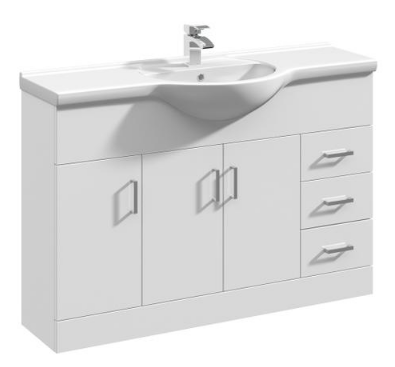 Ultra 1200mm White Gloss Vanity & Basin