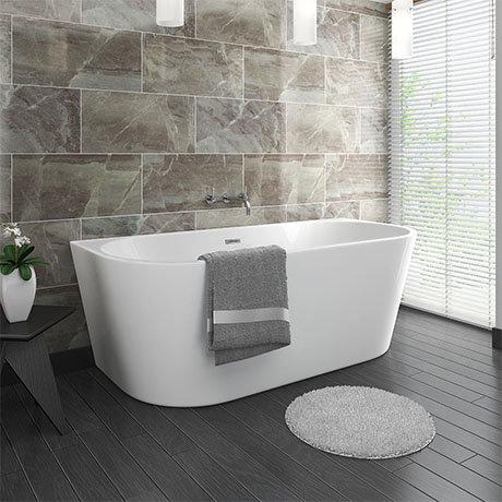 D Shape Seamless Back to Wall Bath 1700mm x 750mm