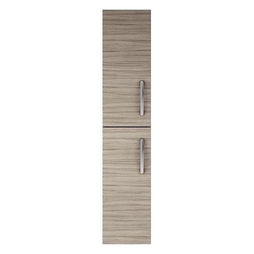 300mm x 1450mm Athena Driftwood 2 Door Wall Hung Storage Unit