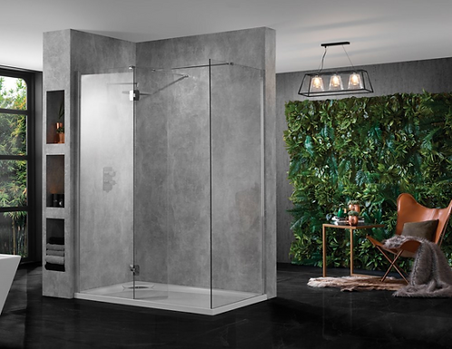 Aquadart 10mm Clear Glass Wetroom Screens