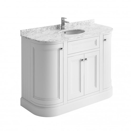 Cromford White 1200mm unit, marble top & basin