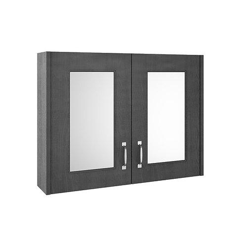 York 800mm Royal Grey Mirror Cabinet OLF415