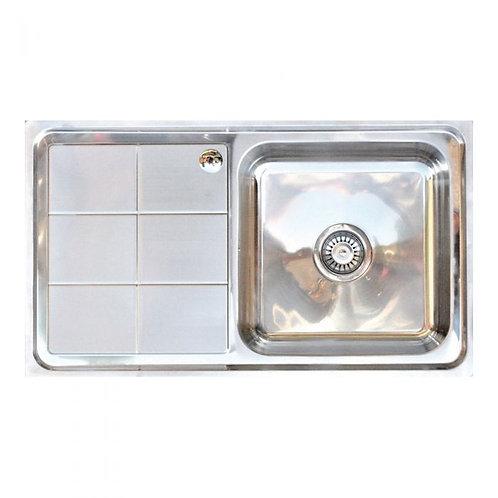 Knightsbridge stainless steel sink and waste
