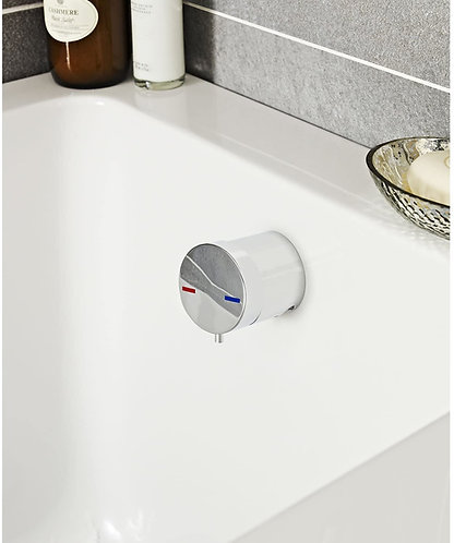 Ultra Freeflow Overflow Bath Filler Tap With Clicker Waste E301