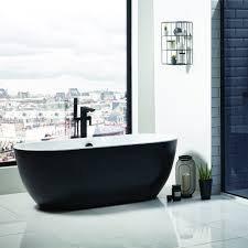 San Marlo Freestanding Bath 1655mm x 750mm (Black)