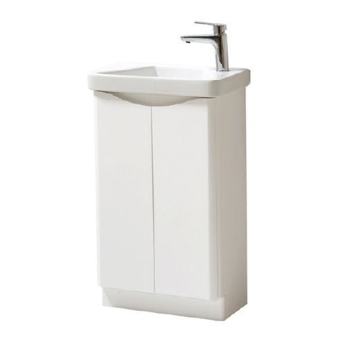 Cayo Gloss white 500mm x 290mm Unit and Basin
