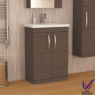 Athena 600 Avola Grey 2 Door Unit & Basin
