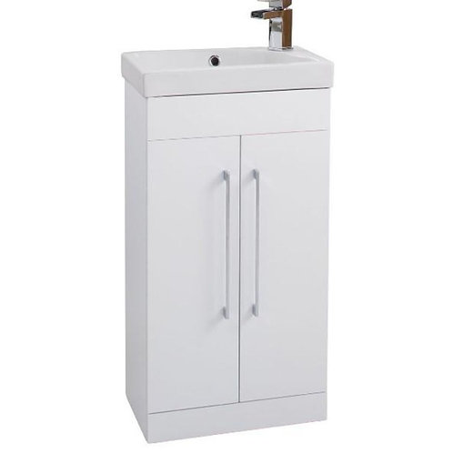 460mm x 290mm white Sail unit and basin