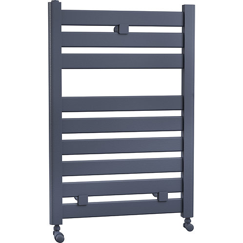 Connect 600mm Wide Towel Radiator in Matt Anthracite, Grey and Black