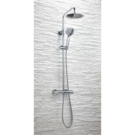 Plan Round Twin Head Mixer Shower