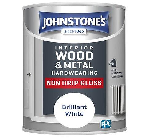 1.25 litre Johnstones hardwearing white gloss