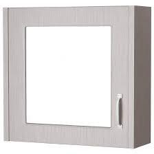York 600mm Stone Grey Mirror Cabinet OLF213