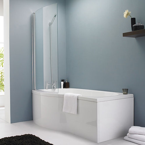 1700mm Nui B Shaped Shower Bath Package