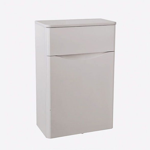 Cayo 500mm Matt Grey Mist WC Unit & Concealed Push Button Cistern
