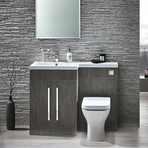 Lili Avola Wodgrain 1100mm Bathroom Furniture Pack