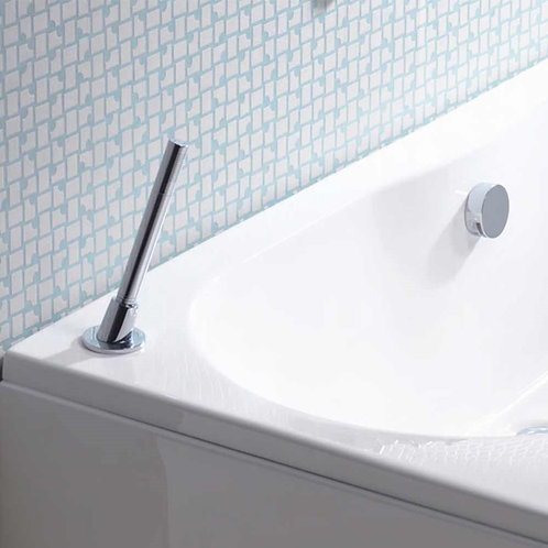 Pull Out Round Bath shower Head, Hose  and Holder