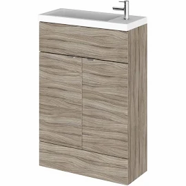 Fusion Woodgrain Slimline 600mm x 260mm unit and top